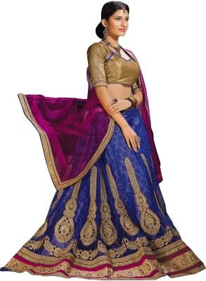 Indianbeauty Self Design, Embroidered Women's Lehenga, Choli and Dupatta Set