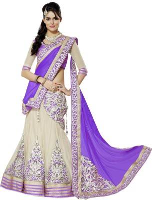 D3ETHNIC Embroidered Women's Lehenga, Choli and Dupatta Set