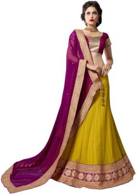 Yosshita & Neha Embroidered Women's Ghagra, Choli, Dupatta Set