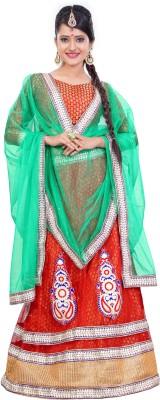 Vibes Embroidered Women's Lehenga, Choli and Dupatta Set