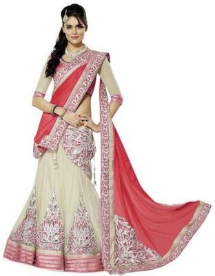 Ganes Embroidered Women's Lehenga, Choli and Dupatta Set