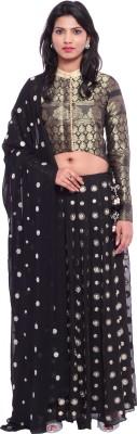 Soucika Self Design Women,s Lehenga, Choli and Dupatta Set