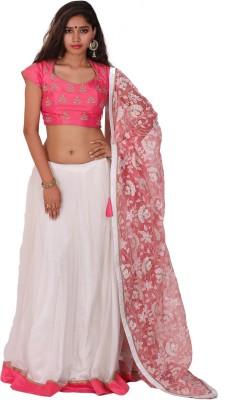 Aggana Self Design Women's Lehenga, Choli and Dupatta Set