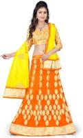 Classic Couture Chaniya, Ghagra Cholis - Classic Couture Embroidered Women's Lehenga, Choli and Dupatta Set(Stitched)