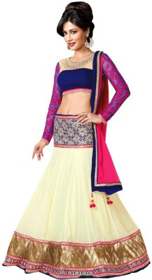 3G9 shop Embroidered Women's Lehenga, Choli and Dupatta Set