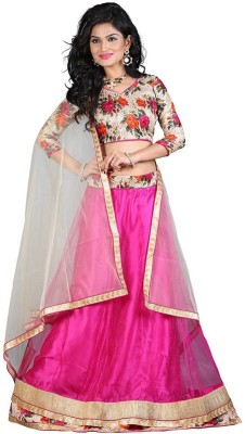 edeal online Self Design Women,s Lehenga, Choli and Dupatta Set