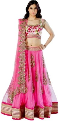 sagarFab Embroidered Women's Lehenga, Choli and Dupatta Set