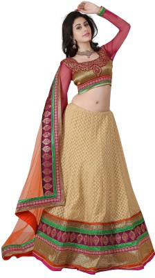 Kataria Fabrics Embroidered Women's Lehenga, Choli and Dupatta Set