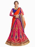 Aasvaa Embroidered Women's Lehenga, Chol...