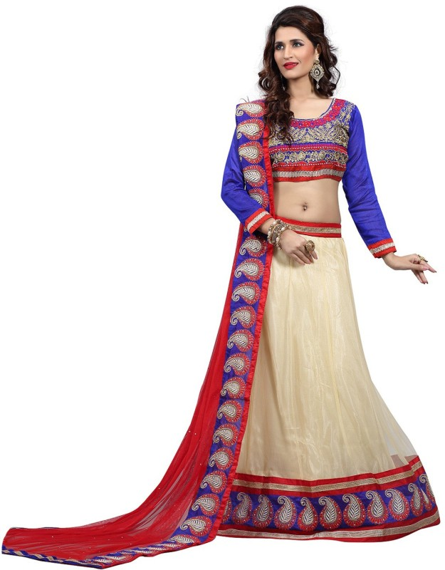 Khantil Embroidered Women's Lehenga, Choli and Dupatta Set(Stitched)