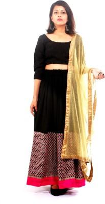 Clothomania Embellished Women's Lehenga, Choli and Dupatta Set