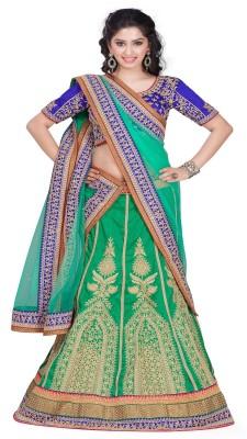 Aditya Creation Embroidered Women's Lehenga, Choli and Dupatta Set