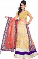 Bollywood Lehenga Chaniya, Ghagra Cholis - Bollywood Lehenga Self Design Women's Lehenga Choli(Stitched)