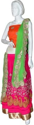 Saibaa Embroidered Women's Lehenga, Choli and Dupatta Set