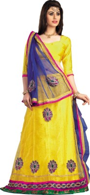 Yosshita & Neha Solid Women's Ghagra, Choli, Dupatta Set
