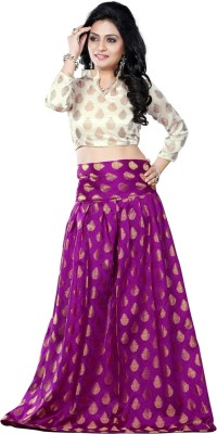 Vruticreation Self Design Women's Lehenga Choli