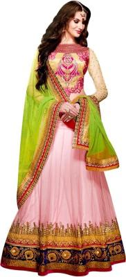 Vogue4all Embroidered Women,s Ghagra, Choli, Dupatta Set