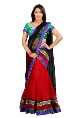 Silkbazar Self Design Womens Lehenga, Choli and Dupatta Set