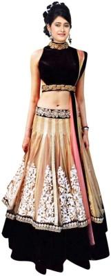 Fashion Founder Embroidered Women's Lehenga, Choli and Dupatta Set