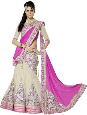 Puffin Fashion Georgette Embroidered Lehenga Choli Material