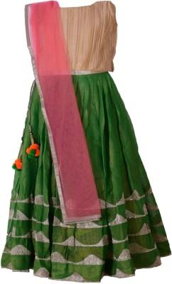 Aggana Paisley Girl's Lehenga, Choli and Dupatta Set