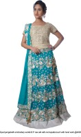Moni Design Studio Chaniya, Ghagra Cholis - Moni Design Studio Embroidered Women's Ghagra, Choli, Dupatta Set(Stitched)
