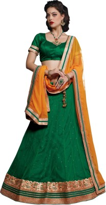 Melluha Embroidered Women,s Lehenga, Choli and Dupatta Set
