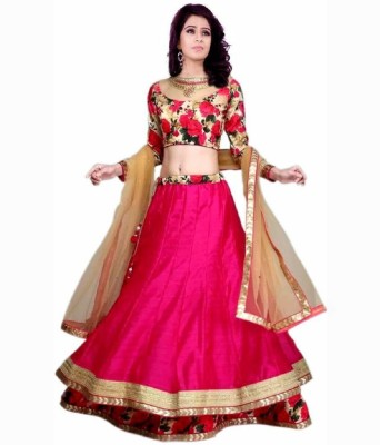 FreyaCreation Floral Print Women,s Lehenga, Choli and Dupatta Set