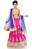 Fashion Fiesta Chaniya, Ghagra Cholis - Fashion Fiesta Embroidered Women's Lehenga, Choli and Dupatta Set(Stitched)