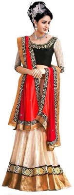 Panash Trends Embroidered Women's Ghagra, Choli, Dupatta Set