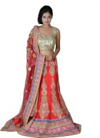 Chaniya, Ghagra Cholis - Tehzeeb Embellished, Embroidered Women's Lehenga, Choli and Dupatta Set(Stitched)