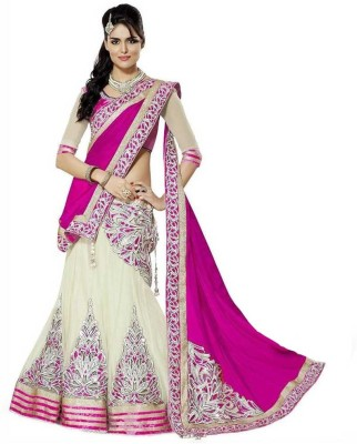 Apka Apna Fashion Embroidered Women's Lehenga, Choli and Dupatta Set