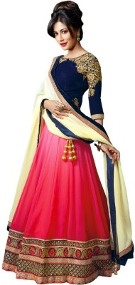 STYLE SENSUS Embroidered Women's Lehenga, Choli and Dupatta Set