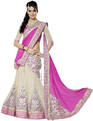 Shopping Queen Embroidered Women's Lehenga, Choli and Dupatta Set