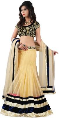 edeal online Embroidered Women's Lehenga, Choli and Dupatta Set