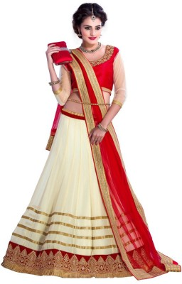 ShreejiDesigner Embroidered Women's Lehenga, Choli and Dupatta Set