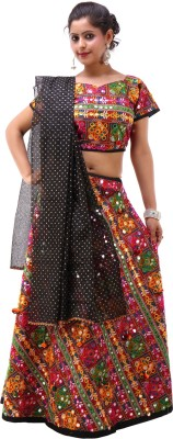 Shop Frenzy Woven Women's Ghagra, Choli, Dupatta Set