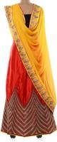 Parmar Design Chaniya, Ghagra Cholis - Parmar Design Self Design Women's Lehenga, Choli and Dupatta Set(Stitched)