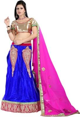 Shree Maa Gurujee Embroidered Women's Lehenga, Choli and Dupatta Set