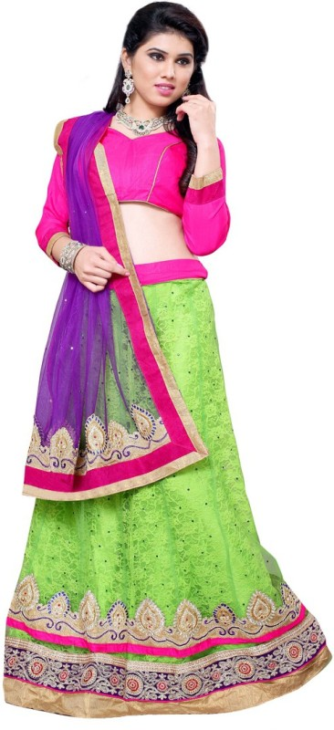 Aasvaa Self Design Women's Lehenga Choli(Stitched)