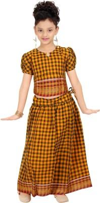 Bhartiya Paridhan Checkered Baby Girls Lehenga Choli