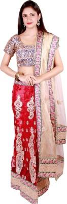 Vogue4all Embroidered Women's Lehenga, Choli and Dupatta Set