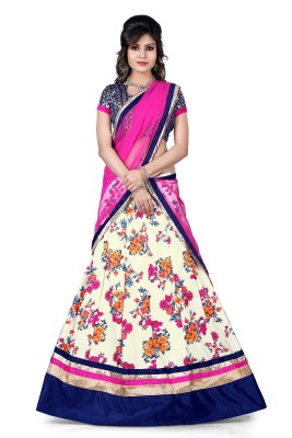 Fashionuma Printed Women's Lehenga, Choli and Dupatta Set