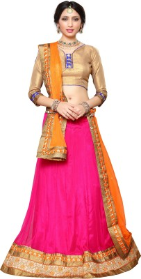 Melluha Fashion Embroidered Women's Lehenga, Choli and Dupatta Set