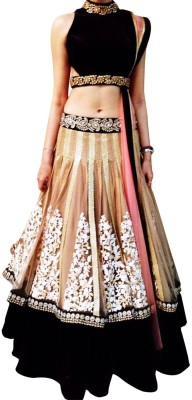 EthnicPark Self Design Women's Lehenga, Choli and Dupatta Set