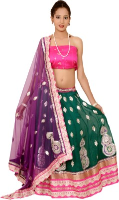 Tehzeeb Embroidered Womens Lehenga, Choli and Dupatta Set