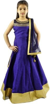 Aarohi Garments Embroidered Girl's Lehenga, Choli and Dupatta Set