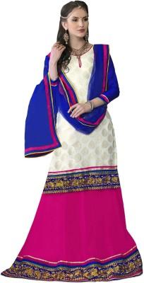 Prachi Silk Mills Self Design Women's Lehenga, Choli and Dupatta Set