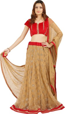 Saianna Style Studio Printed Women's Lehenga, Choli and Dupatta Set