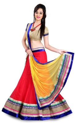 FriendlyFab Embroidered Women's Lehenga, Choli and Dupatta Set